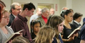 Photo of the people of Emmanuel Presbyterian Church singing together