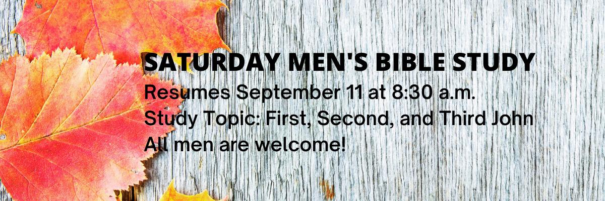 Saturday Men's Bible Study (2)